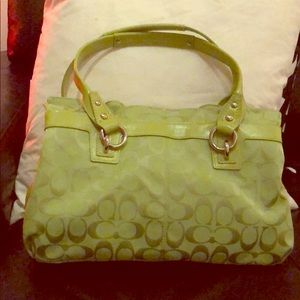 🆕 Lime Coach Purse